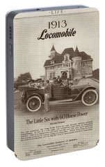 Portable Battery Charger featuring the photograph Locomobile Advertisement by Cole Thompson
