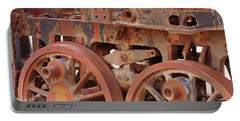 Portable Battery Charger featuring the photograph Locomotive In The Desert by Aidan Moran