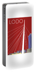 Lodo/maroon Portable Battery Charger