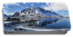 Lofoten Winter Scene Portable Battery Charger