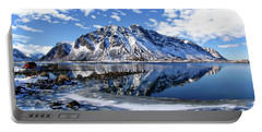 Lofoten Winter Scene Portable Battery Charger