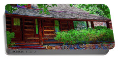 Log Cabin Front Porch Portable Battery Charger