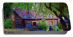 Log Cabin In The Woods Portable Battery Charger