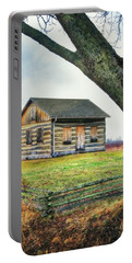 Portable Battery Charger featuring the photograph Log Cabin - Paradise Springs - Kettle Moraine State Forest by Jennifer Rondinelli Reilly - Fine Art Photography