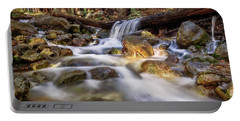 Portable Battery Charger featuring the photograph Log Falls On Limekiln Creek by John Hight