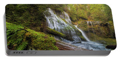 Log Jam By Panther Creek Falls Portable Battery Charger