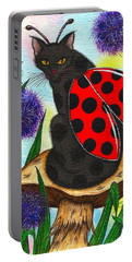 Logan Ladybug Fairy Cat Portable Battery Charger