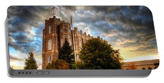 Logan Temple Cloud Backdrop Portable Battery Charger