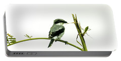 Portable Battery Charger featuring the photograph Loggerhead Shrike And Mantis by Robert Frederick