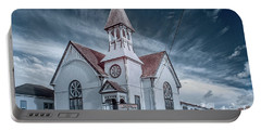Portable Battery Charger featuring the photograph Loleta Church by Greg Nyquist