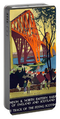 London And North Eastern Railway - Retro Travel Poster - Vintage Poster Portable Battery Charger