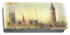 London Big Ben And Thames River Portable Battery Charger