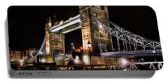 London Bridge At Night Portable Battery Charger