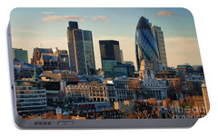 Portable Battery Charger featuring the photograph London City Of Contrasts by Lois Bryan