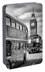 London Classical Streetscene Portable Battery Charger by Melanie Viola