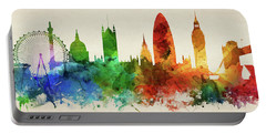 London England Skyline Panorama Gblo-pa02 Portable Battery Charger by Aged Pixel