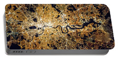 Portable Battery Charger featuring the photograph London From Space by Delphimages Photo Creations