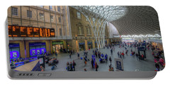 Portable Battery Charger featuring the photograph London King's Cross by Yhun Suarez