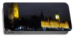 Portable Battery Charger featuring the photograph London Late Night by Christin Brodie