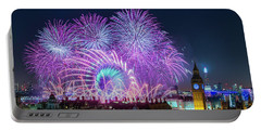 London New Year Fireworks Display Portable Battery Charger