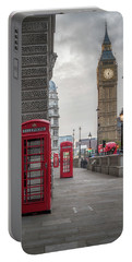 London Phone Booths And Big Ben Portable Battery Charger