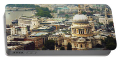 London Rooftops Portable Battery Charger by Judi Saunders