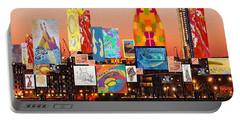 London Skyline Collage 2 Portable Battery Charger