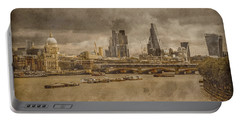 London, England - London Skyline East Portable Battery Charger