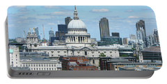 London Skyscrape - St. Paul's Portable Battery Charger by Mini Arora
