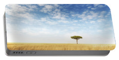Lone Acacia Tree In The Masai Mara Portable Battery Charger