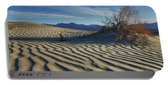 Lone Bush Death Valley Hdr Portable Battery Charger by James Hammond