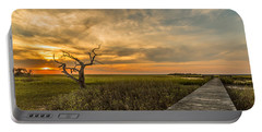 Lone Cedar Dock Sunset - Dewees Island Portable Battery Charger