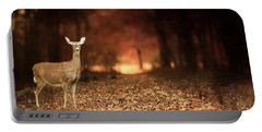Portable Battery Charger featuring the photograph Lone Doe by Darren Fisher