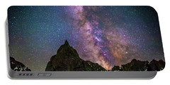 Lone Eagle Peak Dancing In The Milky Way Portable Battery Charger