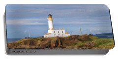Portable Battery Charger featuring the photograph Lone Lighthouse In Scotland by Roberta Byram