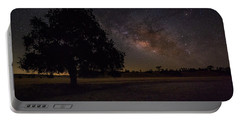 Portable Battery Charger featuring the photograph Lone Oak Under The Milky Way by Tim Bryan