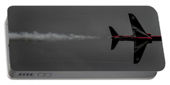 Lone Red Arrow Smoke Trail - Teesside Airshow 2016 Portable Battery Charger by Scott Lyons