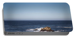 Portable Battery Charger featuring the photograph Lone Rock In The Ocean by Jingjits Photography