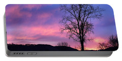Lone Tree At Dawn Portable Battery Charger
