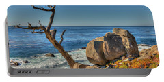 Lone Tree California Coast Portable Battery Charger by James Hammond