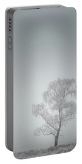 Lone Tree In Winter Portable Battery Charger