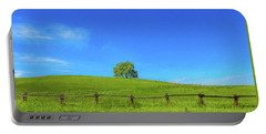 Lone Tree On A Hill Digital Art Portable Battery Charger
