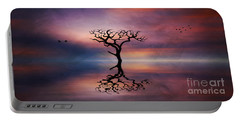 Lone Tree Sunrise Portable Battery Charger by Ian Mitchell