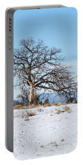 Lone Tree Winter Scene Portable Battery Charger