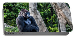 Portable Battery Charger featuring the photograph Lonely Gorilla by Joann Copeland-Paul