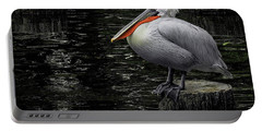 Portable Battery Charger featuring the photograph Lonely Pelican by Pradeep Raja Prints