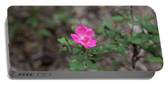 Lonely Pink Flower Portable Battery Charger