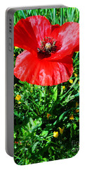 Lonely Poppy Portable Battery Charger