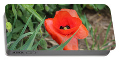 Lonesome Poppy Portable Battery Charger