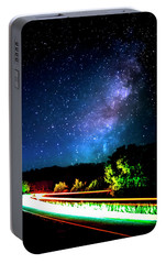 Portable Battery Charger featuring the photograph Lonesome Texas Highway by David Morefield